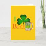 I shamrock beer - I love Beer Gift Card