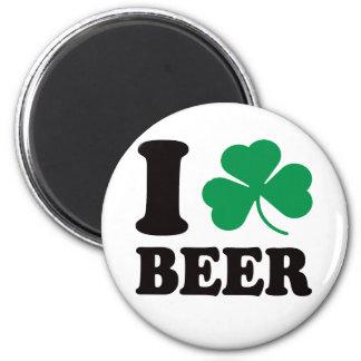 I Shamrock Beer Magnets
