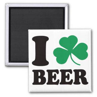 I Shamrock Beer Magnet