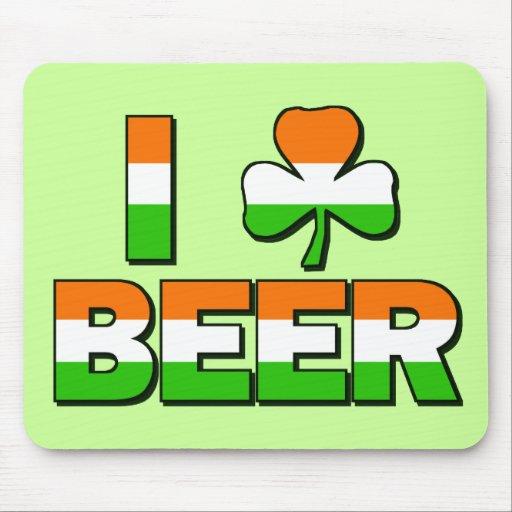 I Shamrock Beer! Mouse Pad