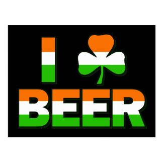 I Shamrock Beer! Postcard