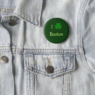 I Shamrock Boston Button button