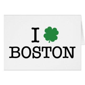 I Shamrock Boston Greeting Card