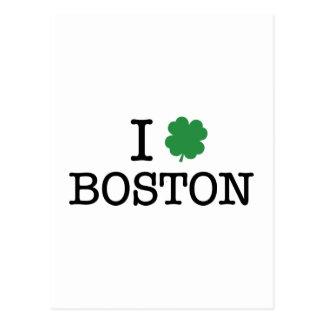 I Shamrock Boston Postcard
