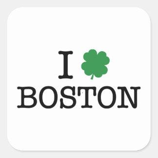 I Shamrock Boston Square Sticker