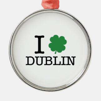I Shamrock Dublin Metal Ornament