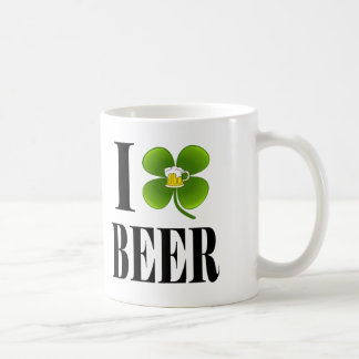 I Shamrock, Heart Beer, St-Patrick's Day Party Cup Mugs