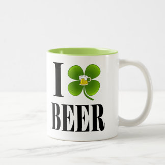 I Shamrock, Heart Beer, St-Patrick's Day Party Cup Mug