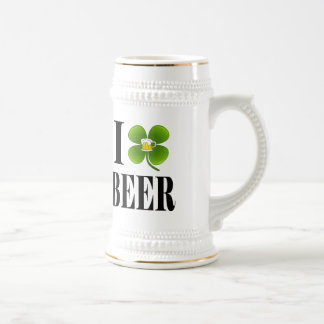 I Shamrock, Heart Beer, St-Patrick's Day Party Cup Coffee Mug