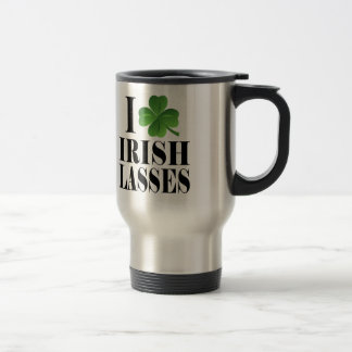 I Shamrock, Heart Irish Lasses, St-Patrick's Day Travel Mug
