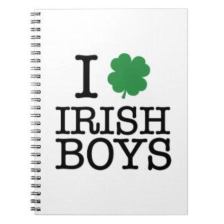 I Shamrock Irish Boys Notebook
