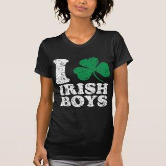 I Love (Shamrock) Irish Boys Shirt