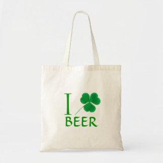 I Shamrock Love Beer Irish Tote Bag