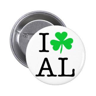 I Shamrock (Love Heart) Alabama AL Button