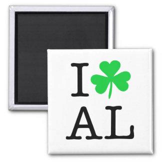 I Shamrock (Love Heart) Alabama AL Magnet