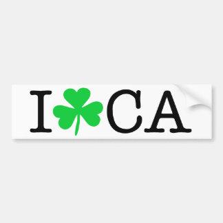 I Shamrock (Love Heart) California CA Bumper Sticker