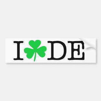 I Shamrock (Love Heart) Delaware DE Bumper Sticker