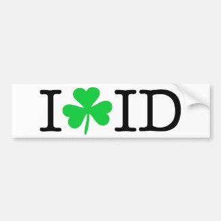 I Shamrock (Love Heart) Idaho ID Car Bumper Sticker