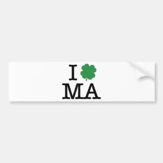 I Shamrock MA Car Bumper Sticker