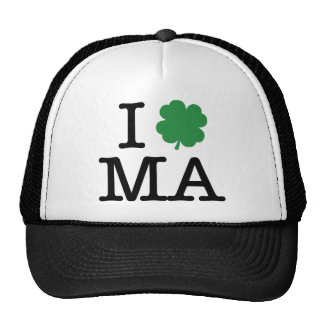 I Shamrock MA Trucker Hat