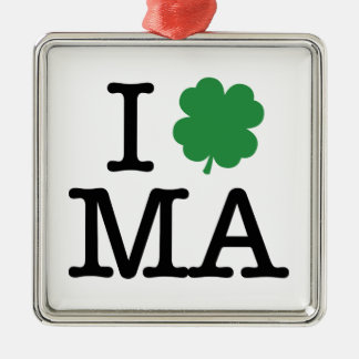 I Shamrock MA Metal Ornament