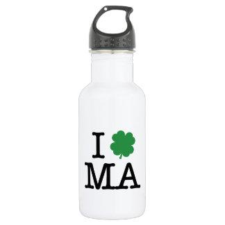 I Shamrock MA 18oz Water Bottle