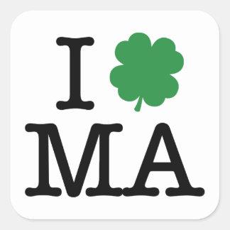 I Shamrock MA Square Sticker