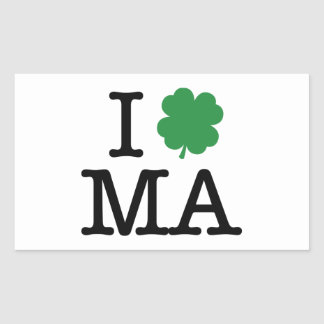 I Shamrock MA Rectangular Sticker