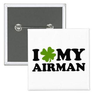 I (shamrock) My Airman Button