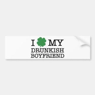 I Shamrock My Drunkish Boyfriend Bumper Sticker