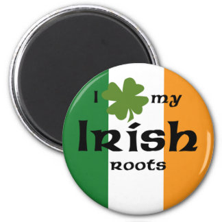 "I ""shamrock"" my Irish roots 2 Inch Round Magnet"