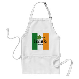 "I ""shamrock"" my Irish roots Adult Apron"