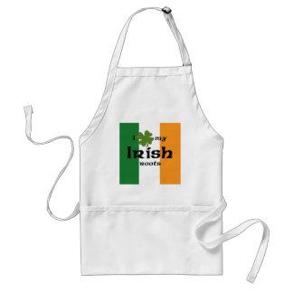 """I """"shamrock"""" my Irish roots Adult Apron"""