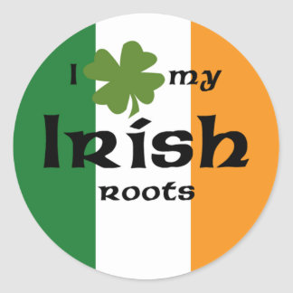 "I ""shamrock"" my Irish roots Classic Round Sticker"