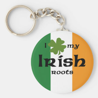 "I ""shamrock"" my Irish roots Keychain"