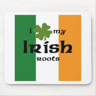"""I """"shamrock"""" my Irish roots Mouse Pad"""