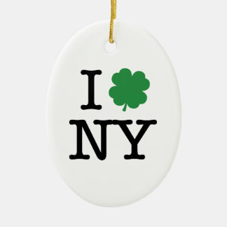 I Shamrock New York Ceramic Ornament