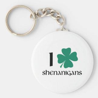 I Shamrock Shenanigans Basic Round Button Keychain