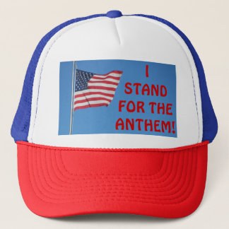 I Shand for the Anthem! USA Flag Trucker Hat