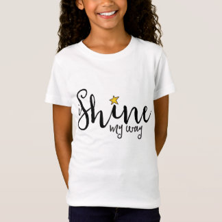 i Shine my way logo tee