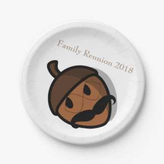 I Shook My Family Tree Nuts Family Reunion Meal Paper Plate