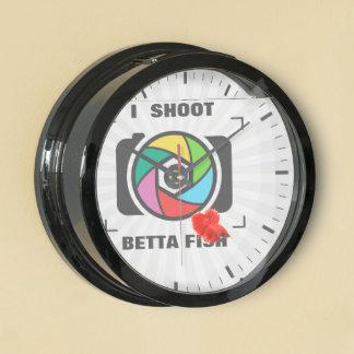 I Shoot BETTA Fish - Colorful Camera Shutter Fun Aquavista Clocks