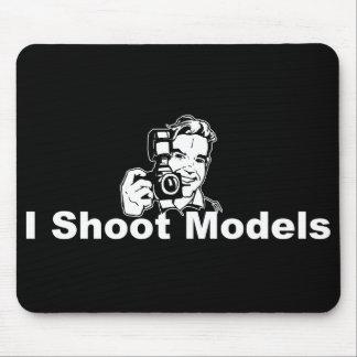 I Shoot Models Black Mouse Pad