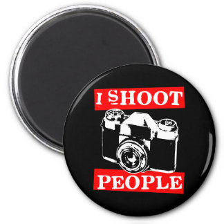 I Shoot People 2 Inch Round Magnet