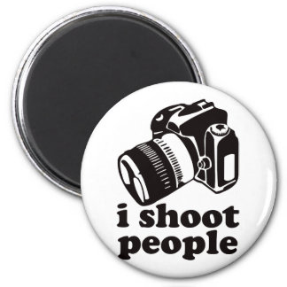 I Shoot People! 2 Inch Round Magnet