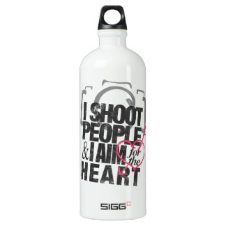 I Shoot People & Aim for the Heart Water Bottle