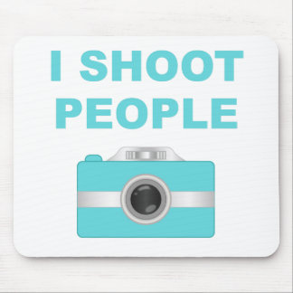 I Shoot People Aqua Camera Mousepads