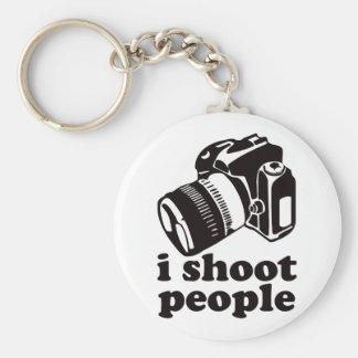 I Shoot People! Basic Round Button Keychain