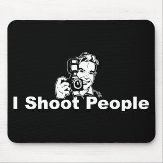 I Shoot People Black Mouse Pad