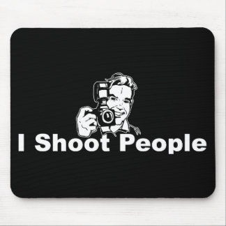 I Shoot People Black Mouse Mat